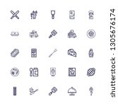 editable 25 gourmet icons for... | Shutterstock .eps vector #1305676174