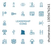 editable 22 leadership icons... | Shutterstock .eps vector #1305676261