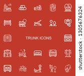 editable 22 trunk icons for web ... | Shutterstock .eps vector #1305676324