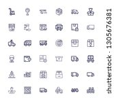 editable 36 delivering icons... | Shutterstock .eps vector #1305676381