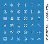 editable 36 settings icons for... | Shutterstock .eps vector #1305685987
