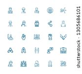 editable 25 partnership icons... | Shutterstock .eps vector #1305686101