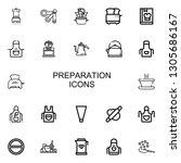 editable 22 preparation icons... | Shutterstock .eps vector #1305686167