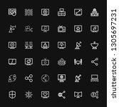 editable 36 communications... | Shutterstock .eps vector #1305697231