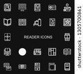 editable 22 reader icons for... | Shutterstock .eps vector #1305700861
