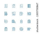 editable 16 questionnaire icons ... | Shutterstock .eps vector #1305700867
