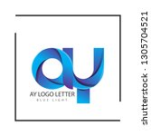 ay a y circle lowercase design... | Shutterstock .eps vector #1305704521