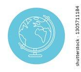 world map cartoon   Shutterstock .eps vector #1305711184