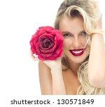portrait of attractive ... | Shutterstock . vector #130571849