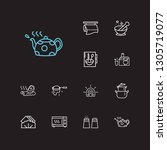 kitchenware icons set. salt... | Shutterstock . vector #1305719077
