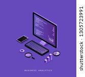 modern flat design isometric... | Shutterstock .eps vector #1305723991
