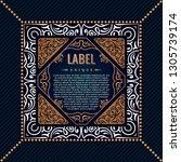 floral frame or label in... | Shutterstock .eps vector #1305739174