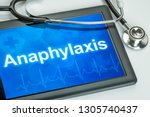 tablet with the text... | Shutterstock . vector #1305740437