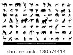 Stock vector  silhouettes of the african animals 130574414