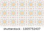 colorful mosaic seamless... | Shutterstock . vector #1305752437