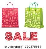 shopping bags. | Shutterstock .eps vector #130575959