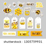 set of stickers  badges  lables ... | Shutterstock .eps vector #1305759931