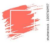 watercolor coral brushstroke... | Shutterstock .eps vector #1305760957