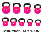 Set Pink Kettlebell  Gym...