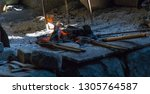 forge fire forge fire used for... | Shutterstock . vector #1305764587