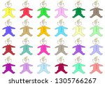 cute babies with blue eyes... | Shutterstock .eps vector #1305766267