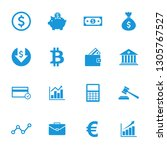 money icon and finance icon set ... | Shutterstock .eps vector #1305767527