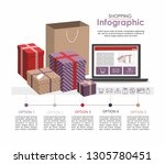 shopping infographic concept... | Shutterstock .eps vector #1305780451