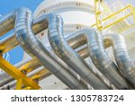 heating medium oil pipeline... | Shutterstock . vector #1305783724