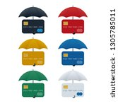 credit card protection concept  ... | Shutterstock .eps vector #1305785011
