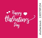 happy valentines day typography ... | Shutterstock .eps vector #1305789154