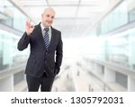 business man winning  at the... | Shutterstock . vector #1305792031
