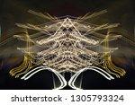 abstract symmetrical... | Shutterstock . vector #1305793324