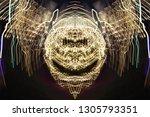 abstract symmetrical... | Shutterstock . vector #1305793351