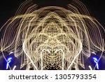 abstract symmetrical... | Shutterstock . vector #1305793354