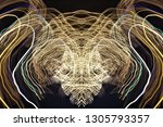 abstract symmetrical... | Shutterstock . vector #1305793357