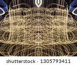 abstract symmetrical... | Shutterstock . vector #1305793411