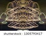 abstract symmetrical... | Shutterstock . vector #1305793417