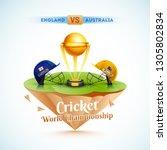 cricket world championship... | Shutterstock .eps vector #1305802834