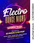 electro dance night party... | Shutterstock .eps vector #1305803884