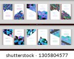 abstract geometric business... | Shutterstock .eps vector #1305804577