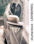 close up shot of a frozen car... | Shutterstock . vector #1305809851