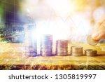 money finance growing up and...   Shutterstock . vector #1305819997