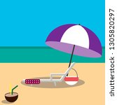 hand drawn vector illustration... | Shutterstock .eps vector #1305820297