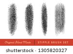 stipple brush set for texturing ... | Shutterstock .eps vector #1305820327