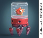 3d Cartoon Character Of A Red...
