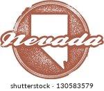 Nevada USA State Stamp - stock vector