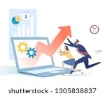 business concept   growth. the... | Shutterstock .eps vector #1305838837