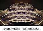 abstract symmetrical... | Shutterstock . vector #1305865351