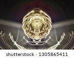 abstract symmetrical... | Shutterstock . vector #1305865411