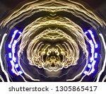 abstract symmetrical... | Shutterstock . vector #1305865417